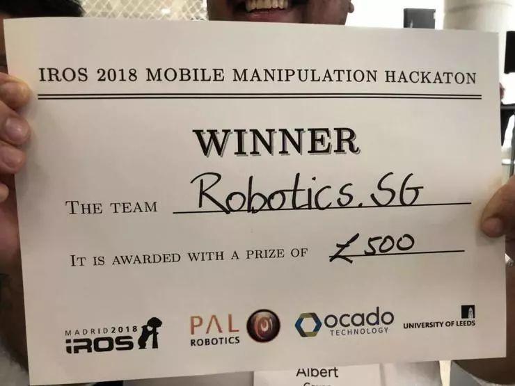 IROS 2018移动操作机器人竞赛冠军揭晓