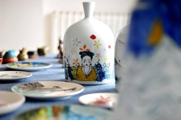 """千年马家窑彩陶""""变身""""时尚用品 """"闯入""""寻常百姓家"""