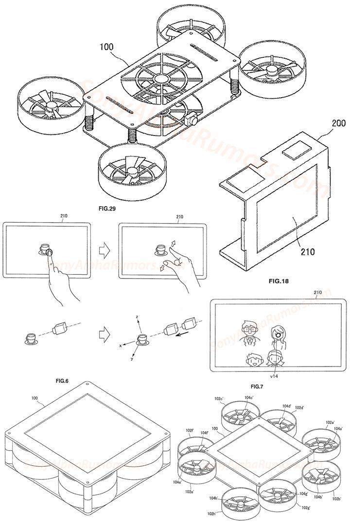 索尼公布新型折叠式无人机专利 具备眼控对焦功能