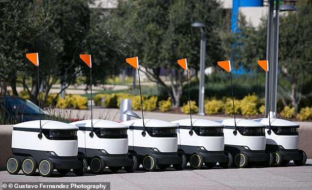 英国白金汉郡城镇居民首次享受机器人运送包裹