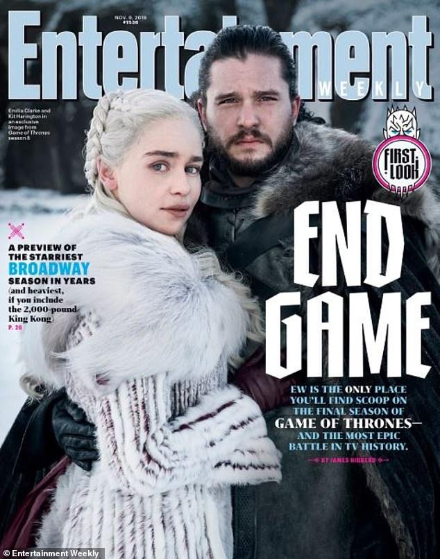 龙妈和雪诺合体!《权力的游戏》终季海报首登《娱乐周刊》封面