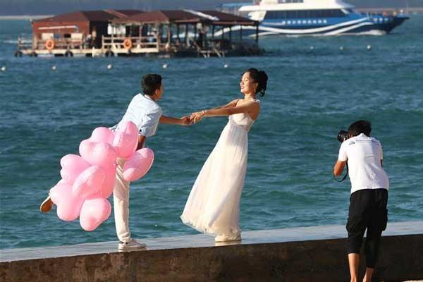 分界洲岛:婚纱旅拍忙