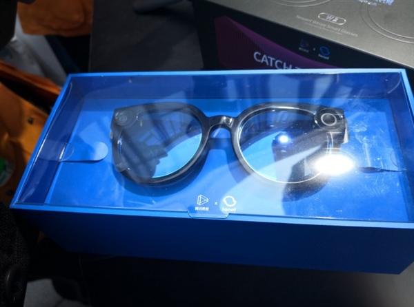 腾讯智能眼镜亮相:仅重53g 支持1080P录制
