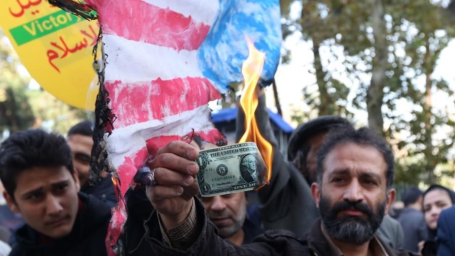 """伊朗千城游行反对美国制裁   德黑兰高喊""""美国去死"""""""