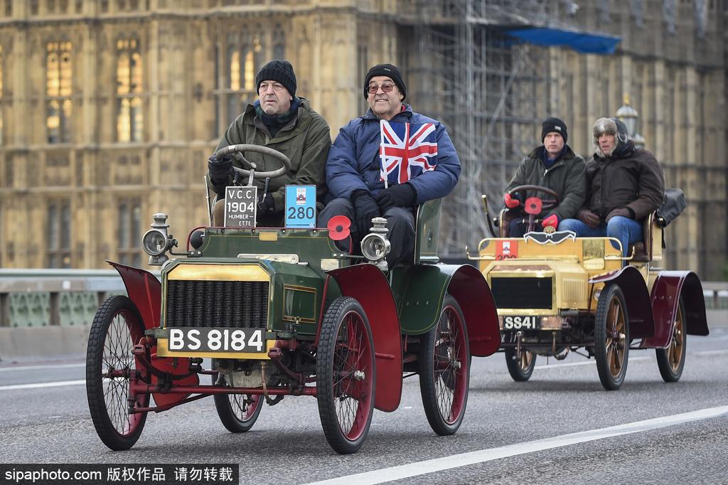 英国举行伦敦-布莱顿老爷车拉力赛 超酷复古汽车趣味十足