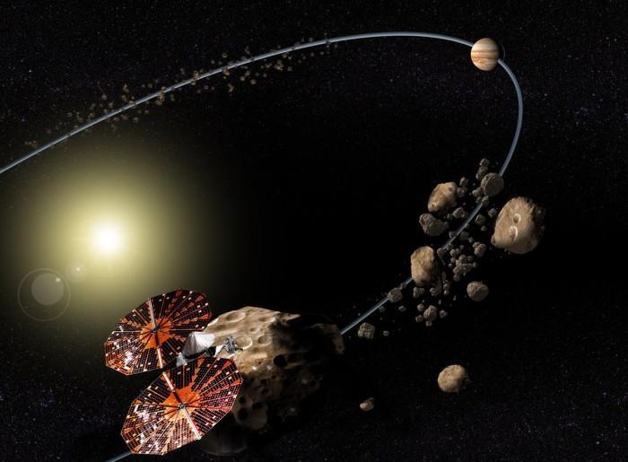 "NASA拟派""露西""拜访7颗小行星 探测器2021发射"