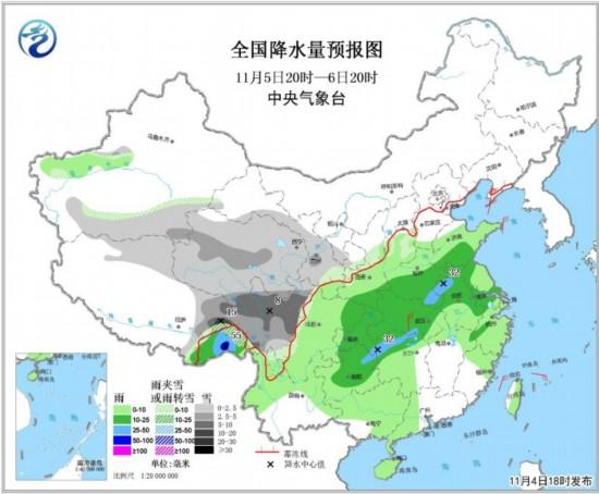 西南华南局地有大雨 青藏高原局部大到暴雪