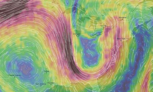 """研究表明天空中""""巨浪""""将极大影响地球天气"""