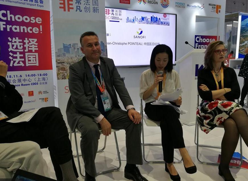 法国70家公司亮相进博会 在中国寻找科创合作伙伴