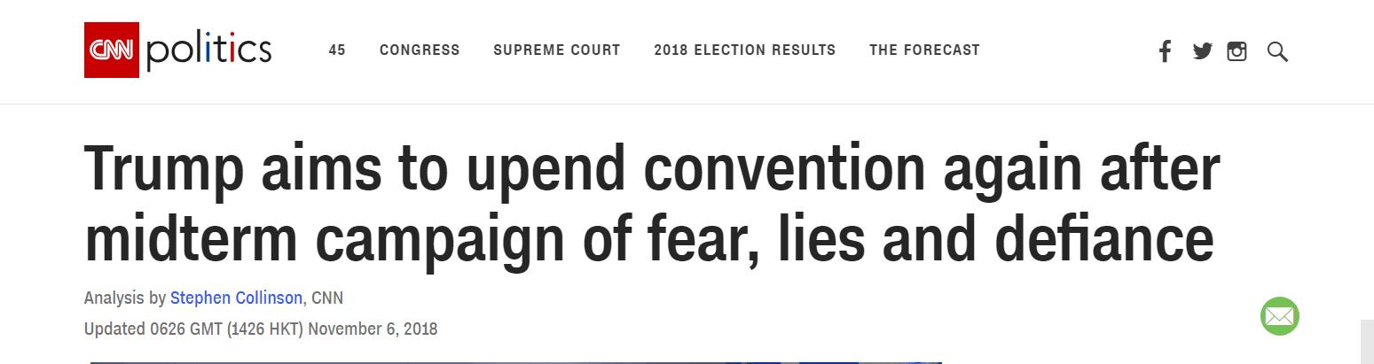 民调显示中期选举对特朗普不利,他能否再颠覆传统?CNN这样说