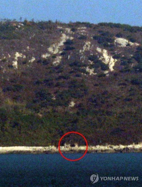 朝鲜对向韩国的一处炮台口没封 韩军分析:门坏了