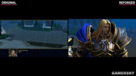 《魔兽争霸3:重制版》VS原版对比 差距很大
