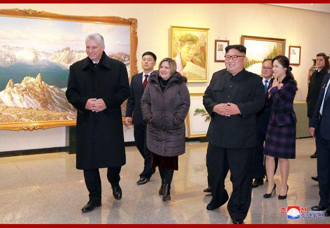古巴领导人兴奋参观朝鲜版