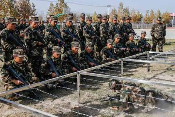 驻藏武警某部新兵军营展风采