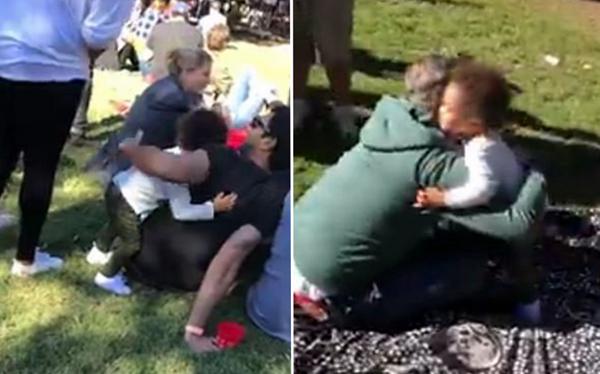 超有爱!美2岁男童回家前深情拥抱公园每位陌生人