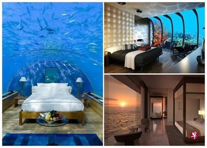 马尔代夫建全球首家海底酒店 可近距离观赏海洋生物