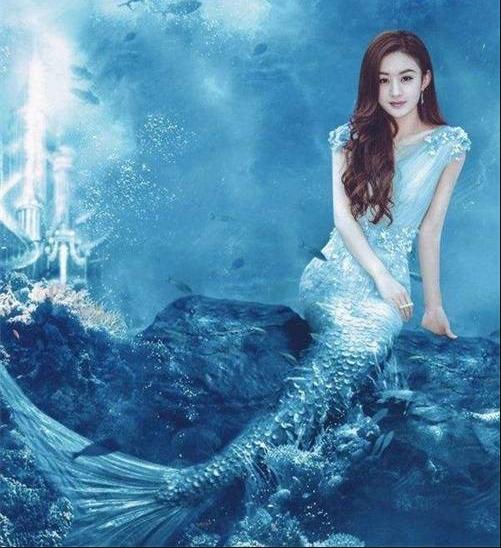 同样是美人鱼装扮:赵丽颖清纯,范冰冰冷艳,她被称为人鱼小姐!