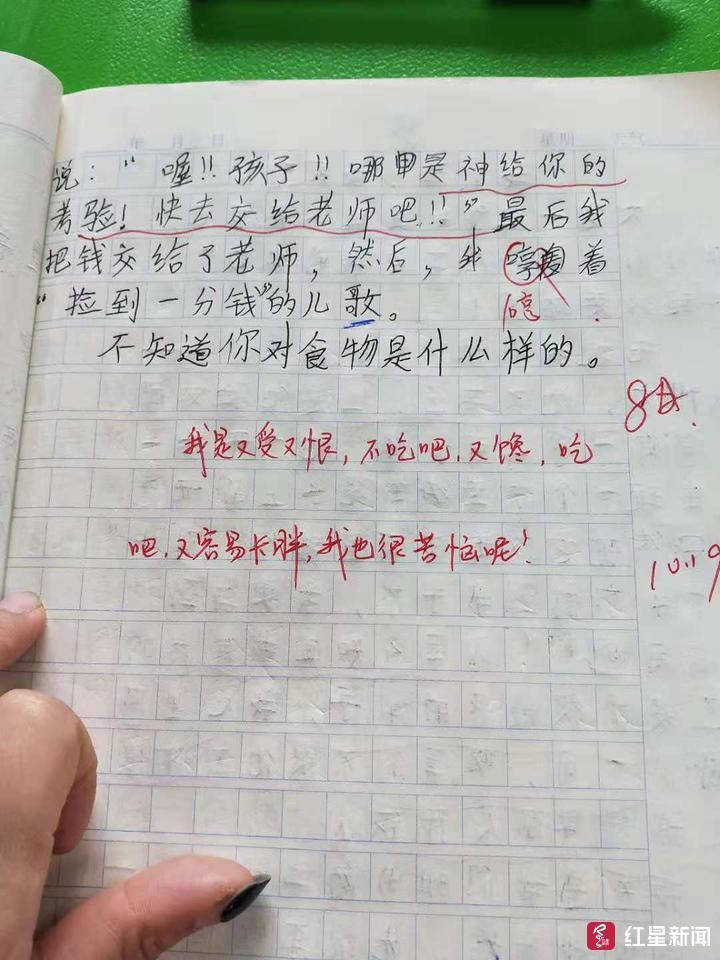 小学生作文《可怜啊》走红 哀叹每天才5毛零花钱