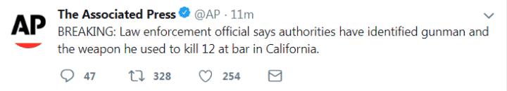 快讯!美国加州酒吧枪击案袭击者身份已确认