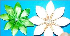 教您制作漂亮的折纸花朵