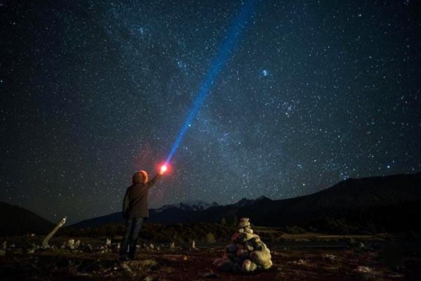 西藏鲁朗 星空璀璨