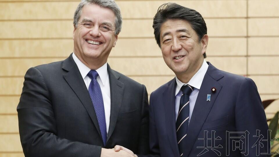 安倍会晤WTO总干事,强调将强化公平贸易体制