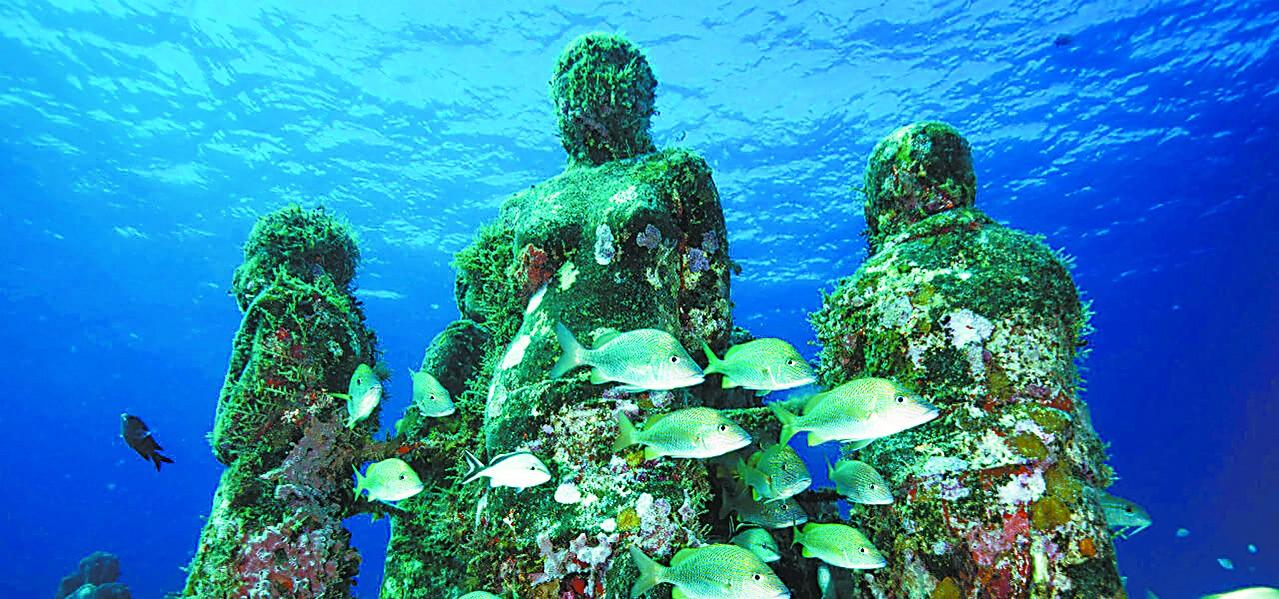 潜水游览墨西哥海底博物馆