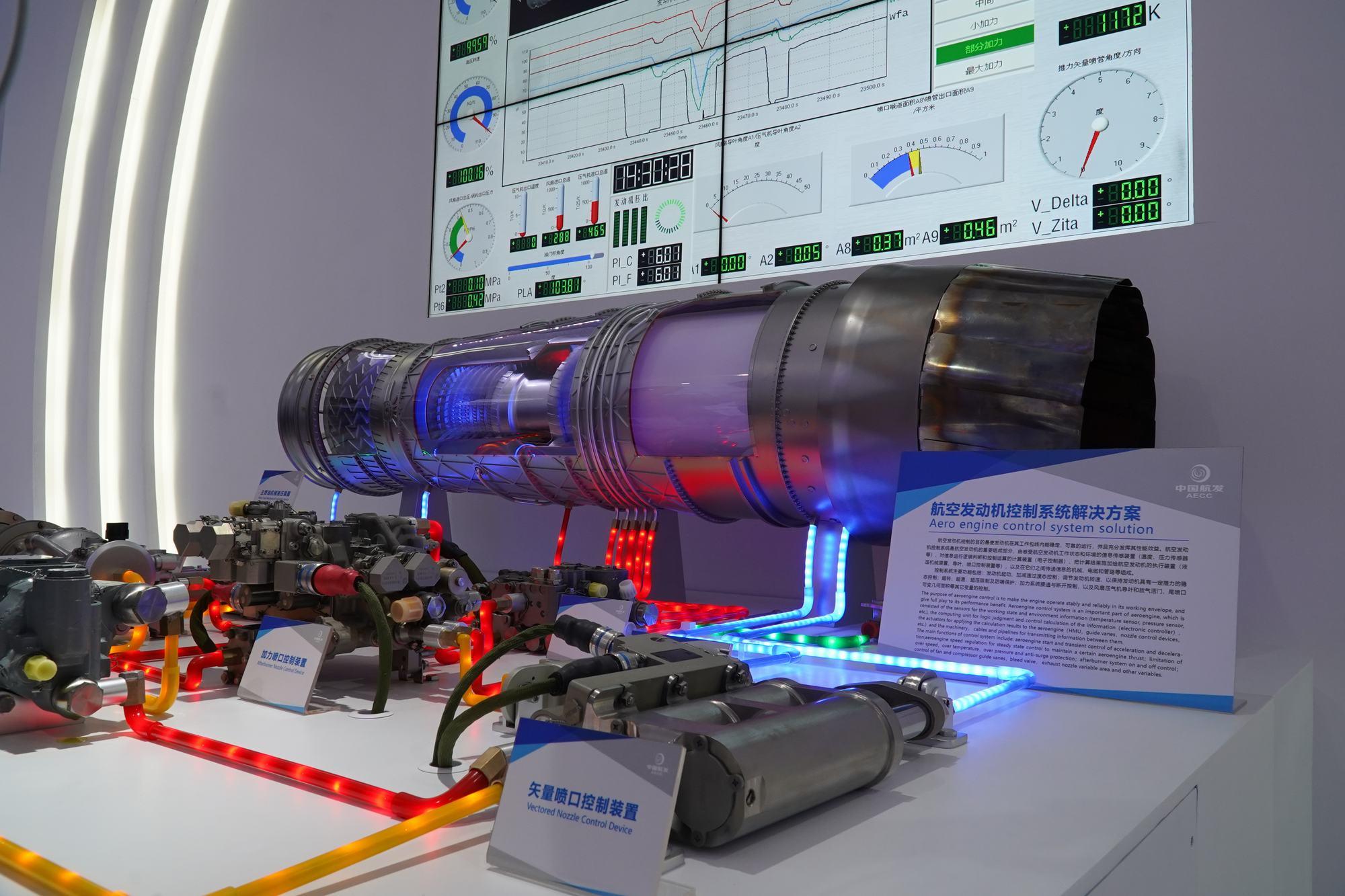 歼-10B用的就是它?国产矢量喷口控制装置曝光