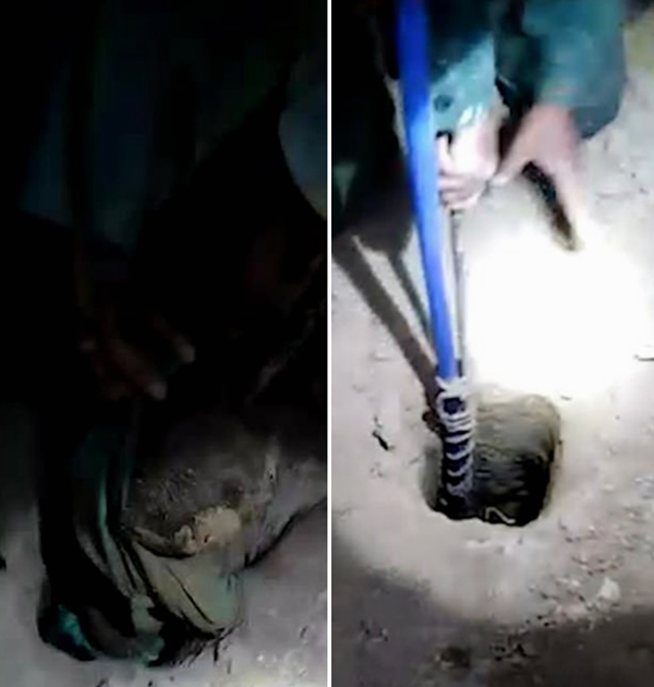 巴基斯坦4岁男童追球摔倒掉入深井获众人救援