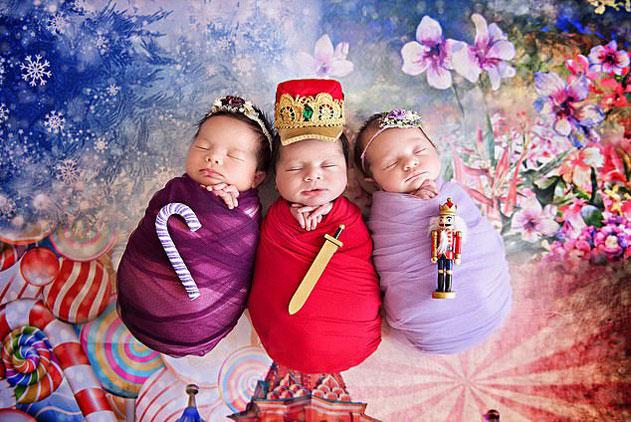 美摄影师为宝宝拍摄胡桃夹子人偶主题照