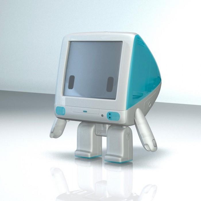 设计师以经典苹果iMac G3造型创造呆萌玩具手办