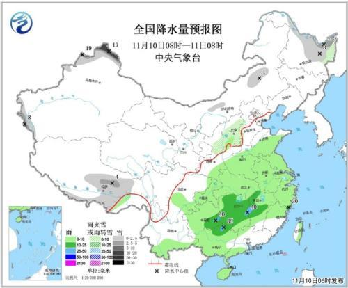 10-12日新疆北部有较强降雪 江南等地有一次降水过程