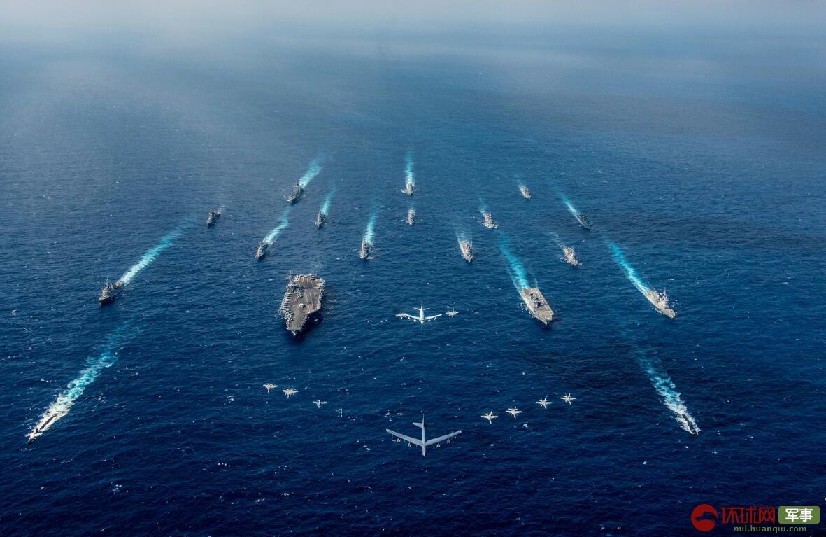美媒:美日最大演习出动16艘舰船 矛头直指中国