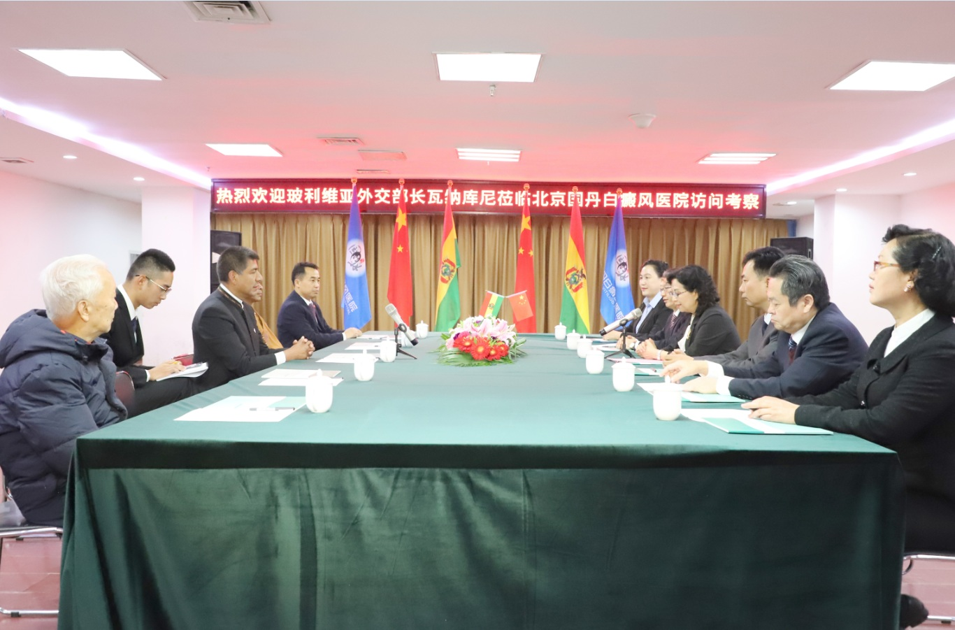 玻利维亚前外交部长瓦纳库尼莅临北京国丹医院访问考察