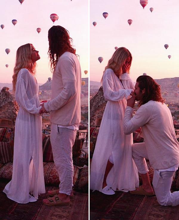 壮观!澳摄影师求婚 百只热气球升空