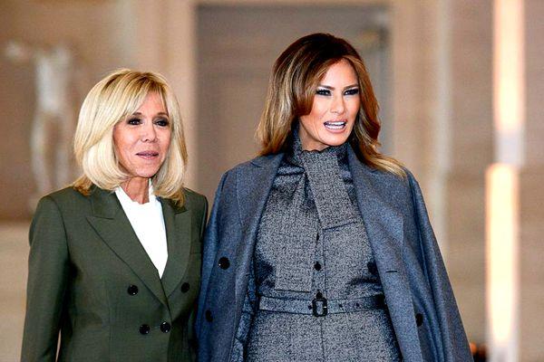 美、法两国第一夫人现身凡尔赛宫 同台媲美各有千秋