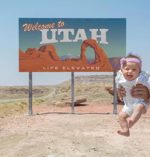 全球最小旅行博主 出生6个月游遍全美50州