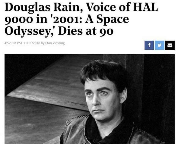 加拿大配音演员道格拉斯-雷恩去世 享年90岁