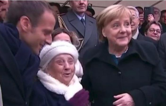 默克尔被错认成马克龙夫人 忙澄清:我是德国总理!