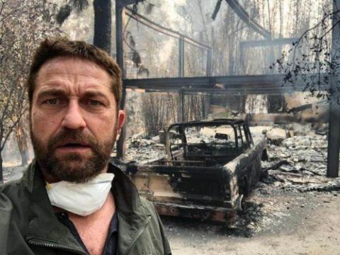 美国加州山火肆虐 好莱坞男星豪宅烧成废墟