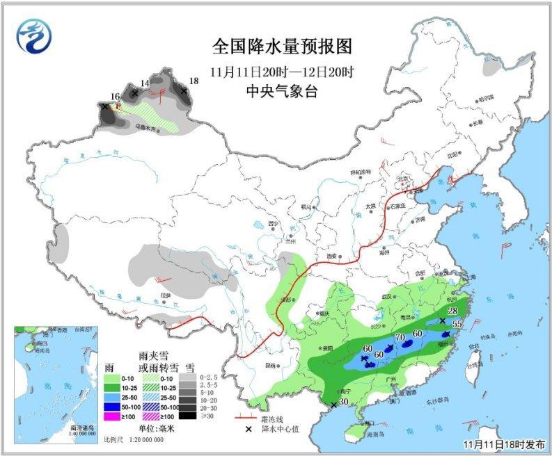 新疆北部有较强降雪京津冀局地将有重度霾