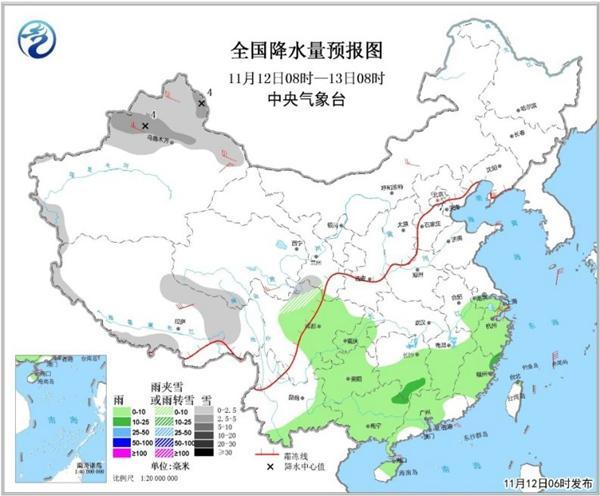 本周北方多地气温创新低 南方大范围雨水