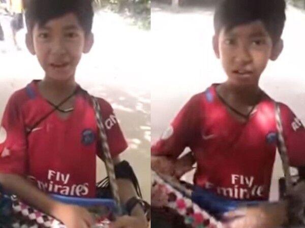 台媒:柬埔寨10岁男孩会9国语言 高唱《我们不一样》