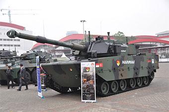 印尼防务展土耳其展示和印尼合研中型坦克原型车