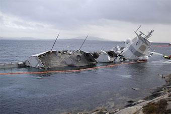 挪威半沉军舰救援还未开启 未来将被拖走维修