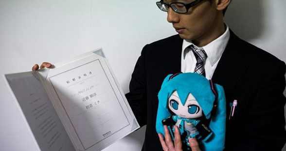 日本男子宣布与初音未来完婚 婚礼花费约12万元