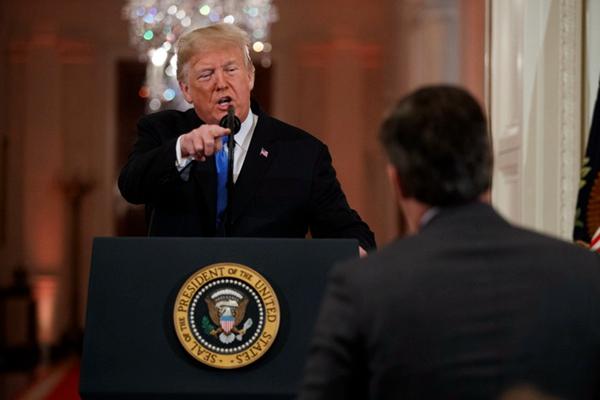 CNN告美国总统!记者采访被拒CNN正式起诉特朗普及其助手