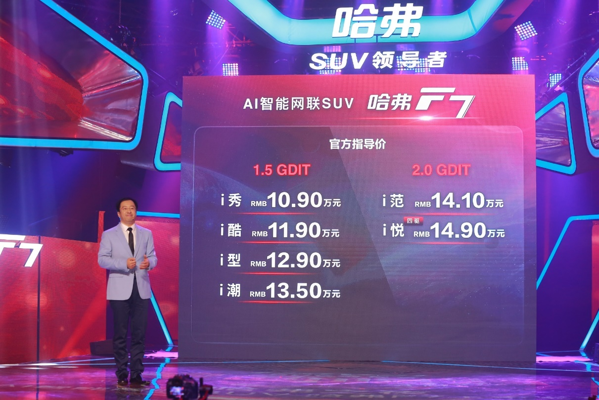 布局海外 售价10.9万起的哈弗F7将成为全球爆款