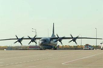 哈萨克斯坦引进中国运-8运输机亮相