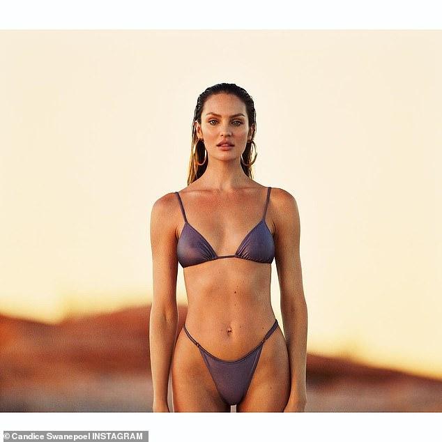 南非名模坎蒂丝分娩仅五个月后复工拍比基尼大片